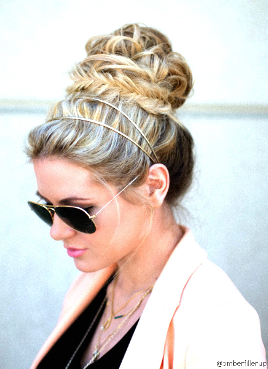 Fishtail Bun Barefoot Blonde By Amber Fillerup Clark