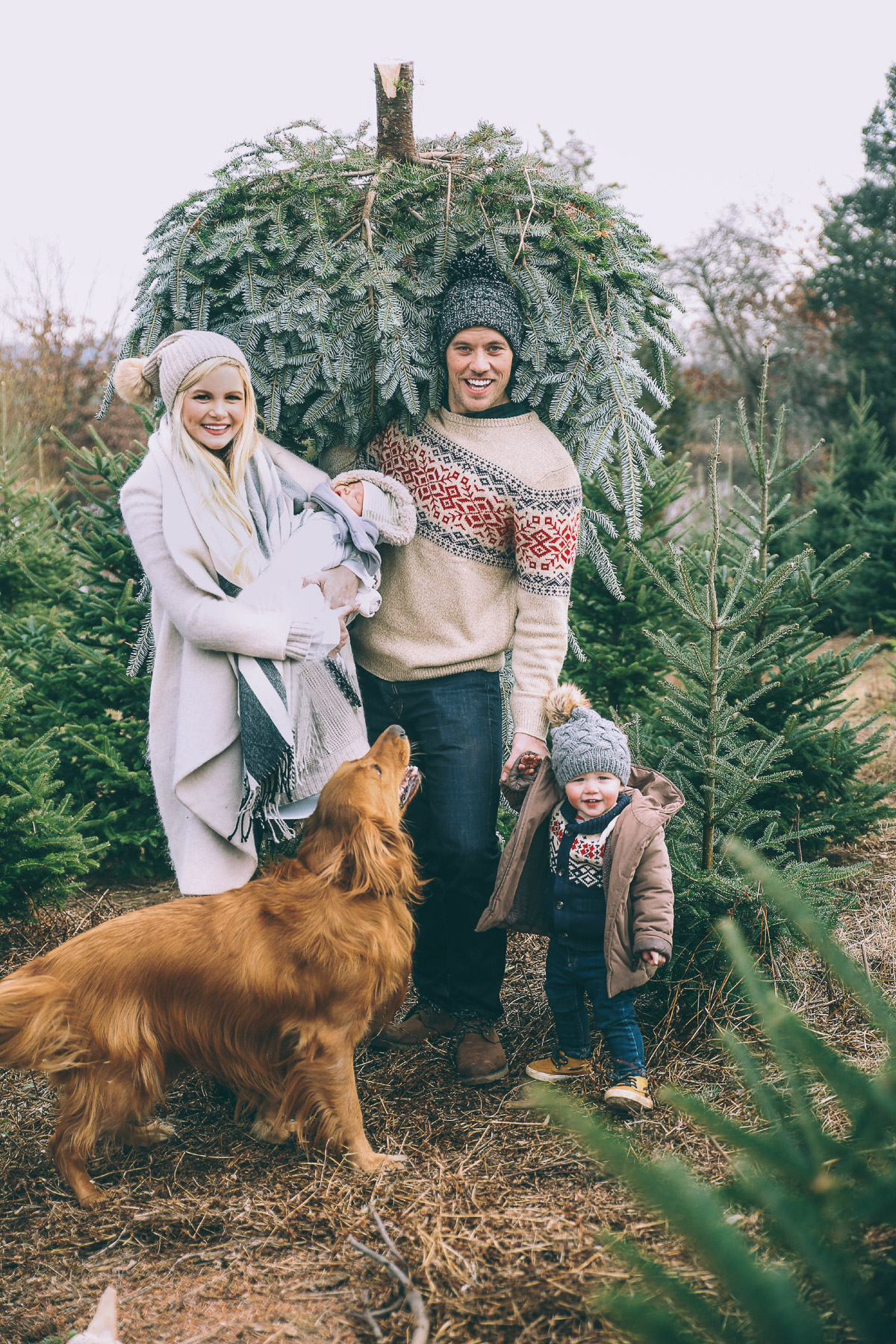 Barefoot Blonde Merry Christmas Card