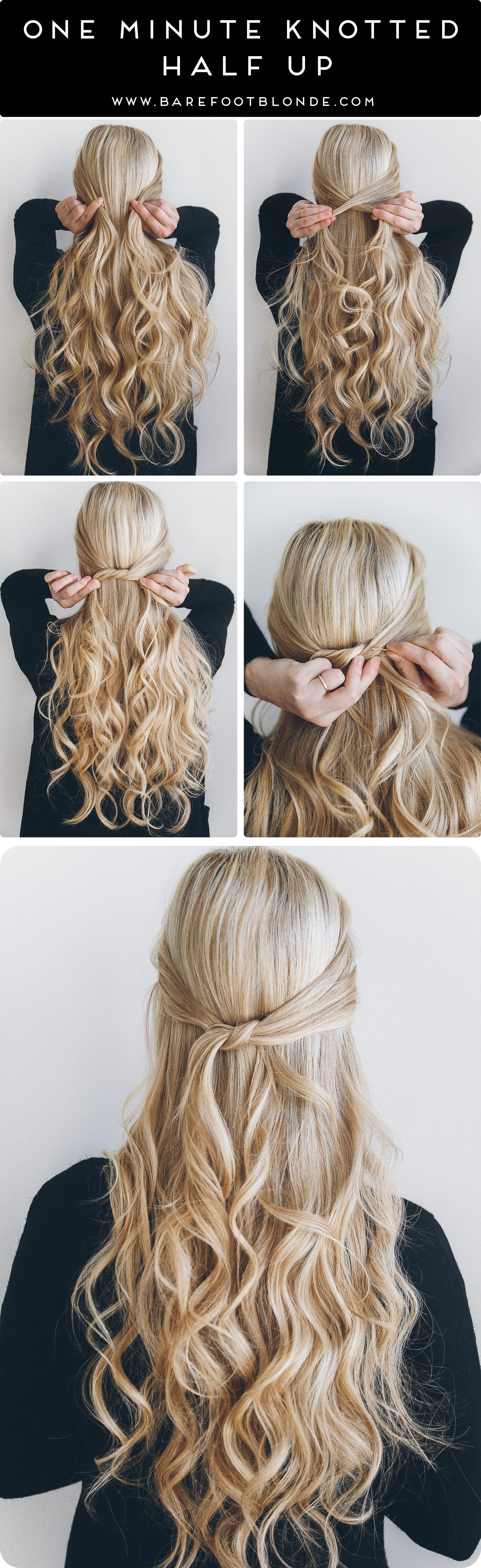 Barefoot Blonde One Minute Knotted Half Up