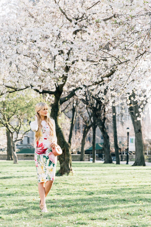 Barefoot Blonde Amber in Sakura Park with Nordstrom