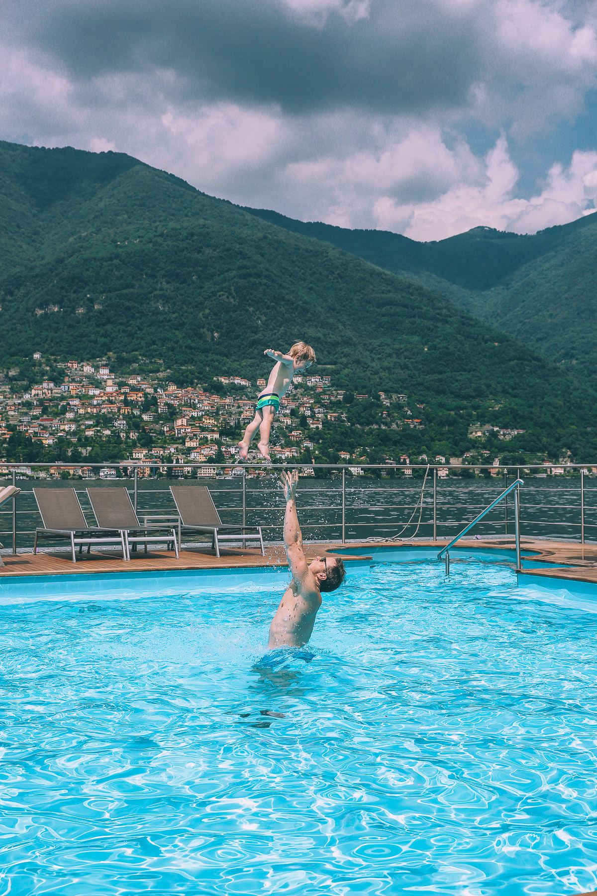 Lake como and the floating pool barefoot blonde by amber - Costa diva resort ...