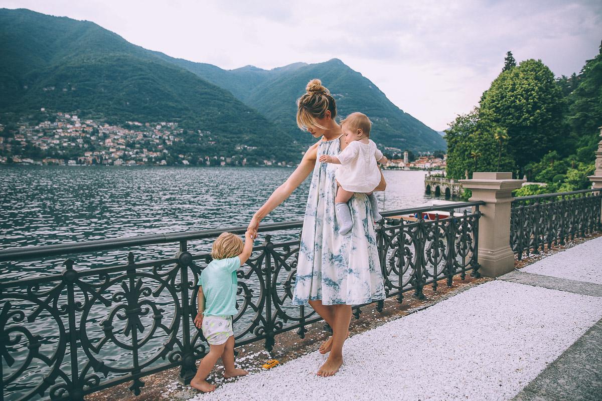 Barefoot Blonde in Lake Como at Casta Diva Resort and Spa
