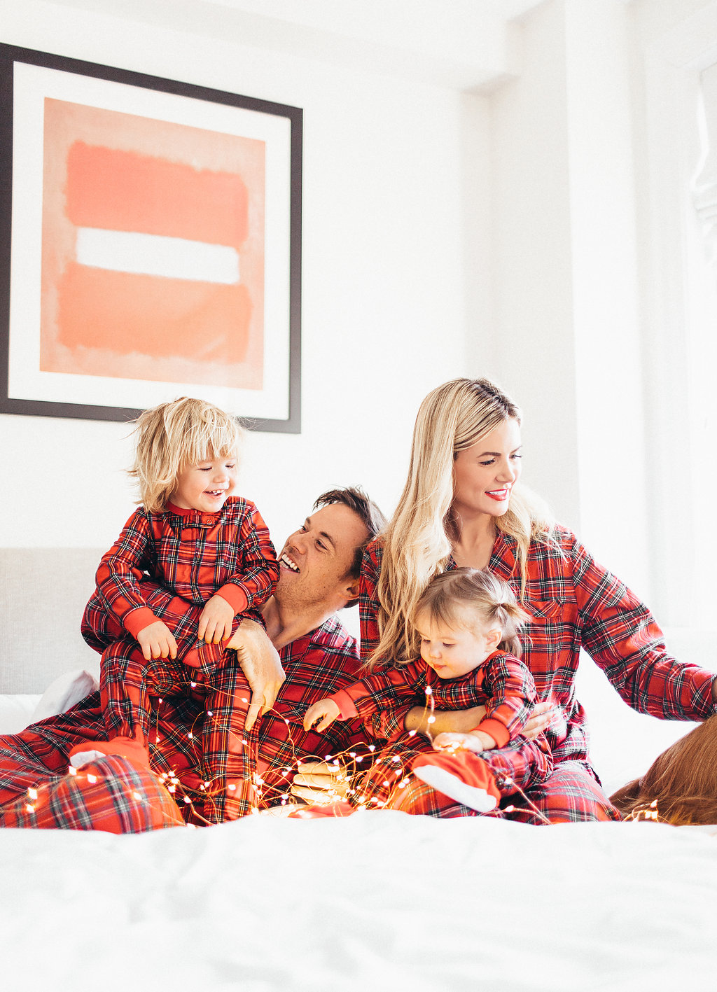 Christmas Pajamas Photoshoot.Christmas Pajamas Barefoot Blonde By Amber Fillerup Clark