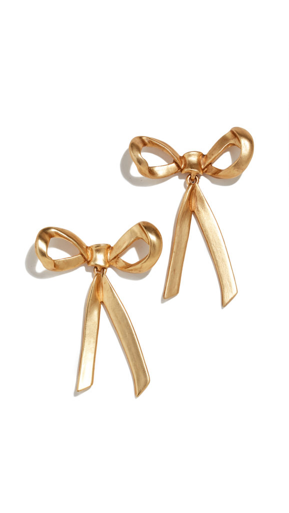 Gold Bow Earrings on my 2018 Holiday Wish List | Barefoot Blonde by Amber Fillerup Clark