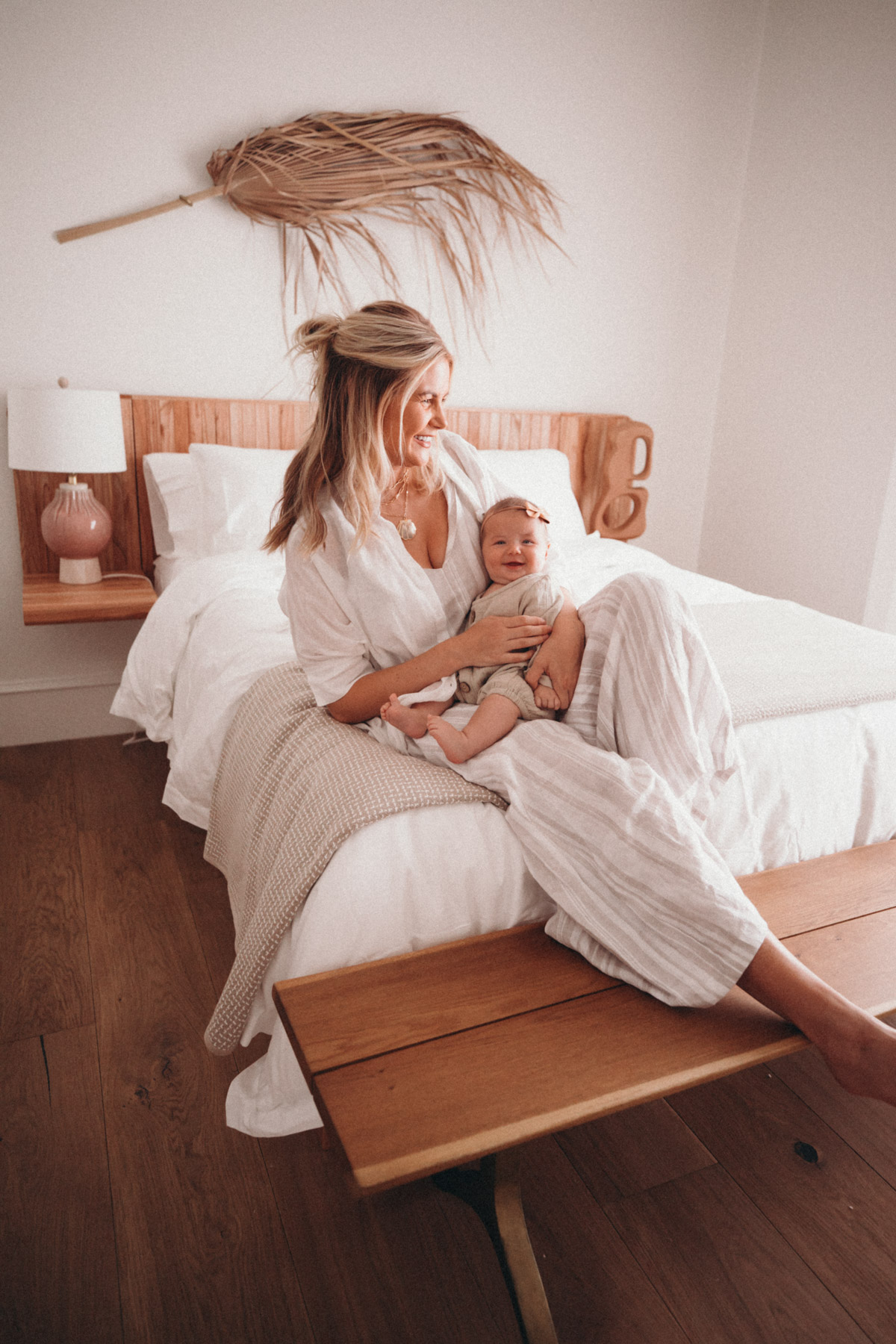 Amber and Frankie in their new guest room. Amber Fillerup Clark | Barefoot Blonde