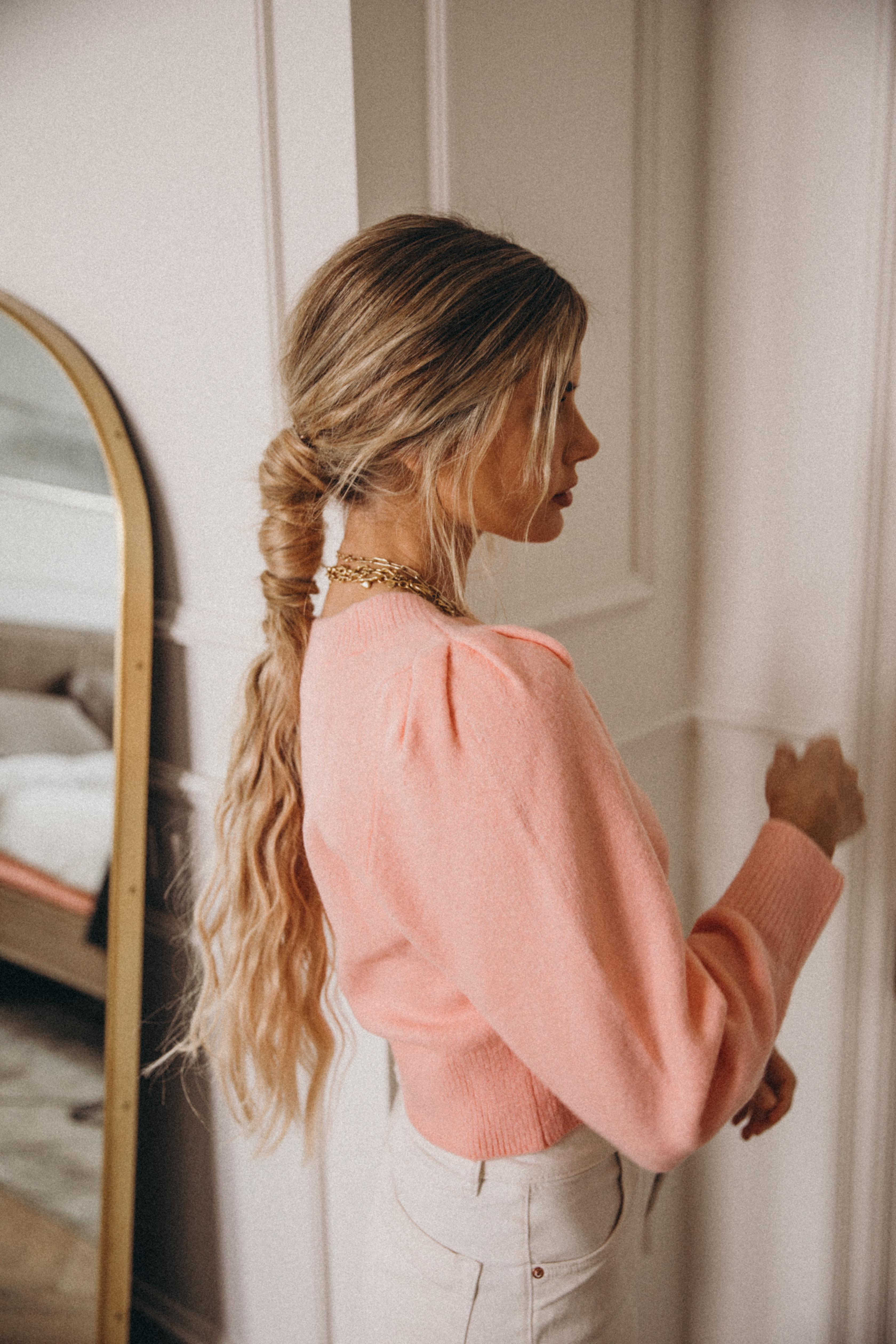 Mega Wrapped Ponytail | Amber Fillerup Clark | Barefoot Blonde Hair