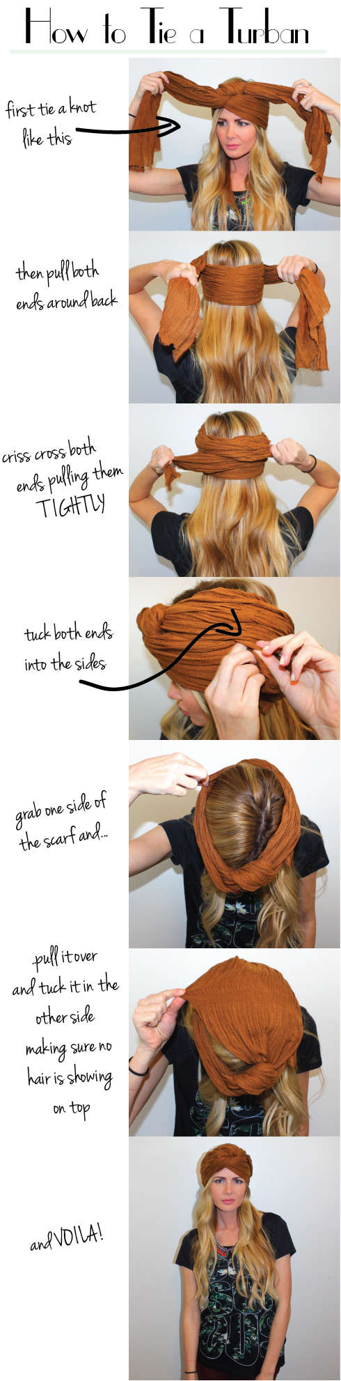 How to Tie a Turban - Barefoot Blonde by Amber Fillerup Clark