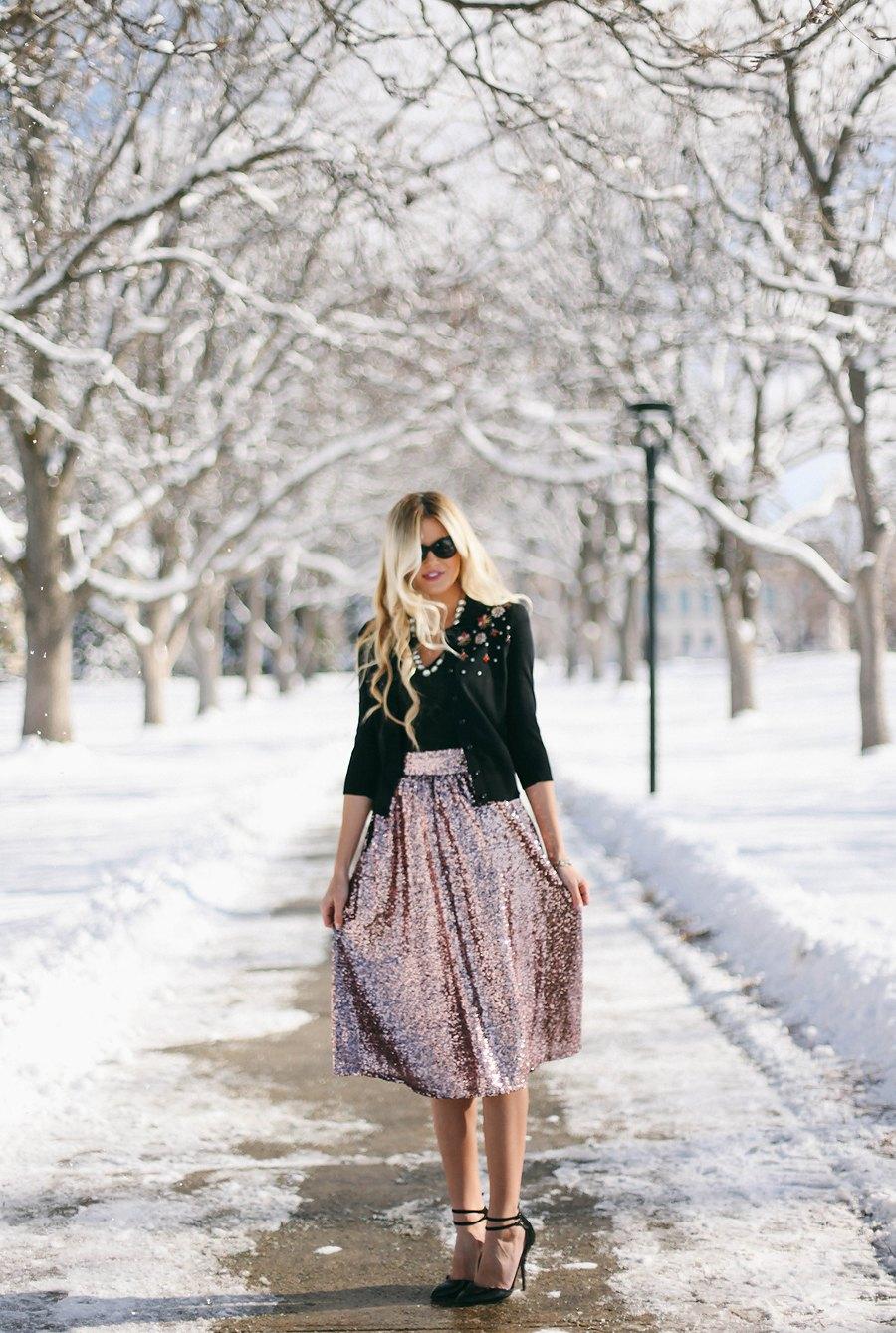 Barefoot Blonde - Sequin Skirt