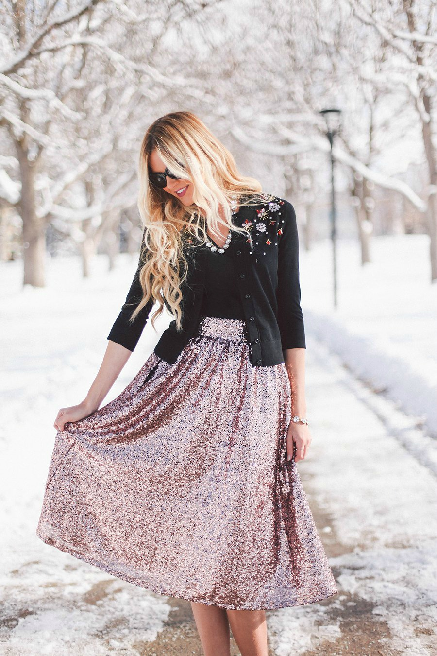 Barefoot Blonde - Sequin Skirt
