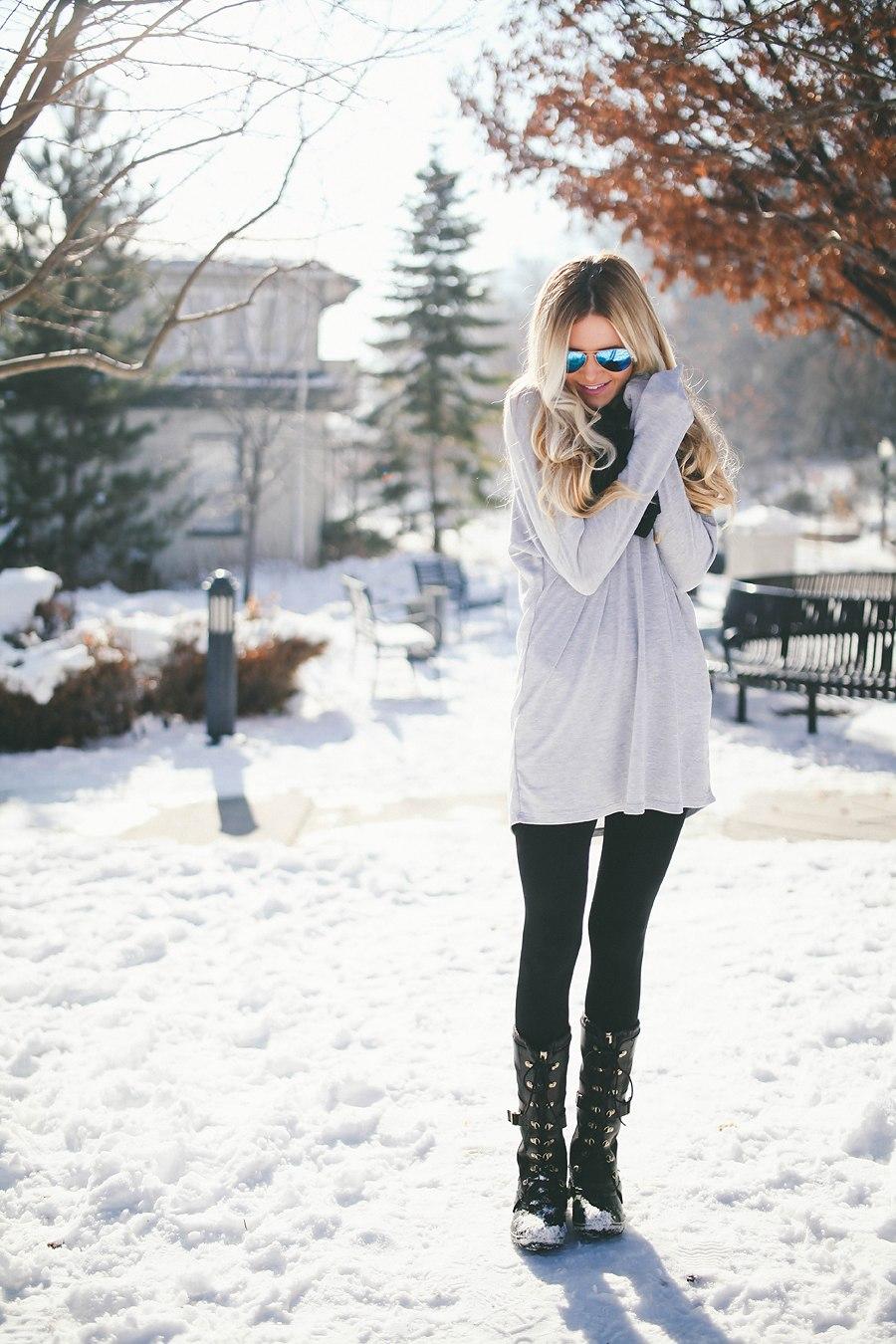 Snow Attire Barefoot Blonde By Amber Fillerup Clark